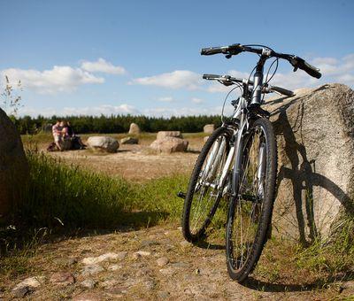 Radfahr-Halt beim Steinkreis Werpeloh